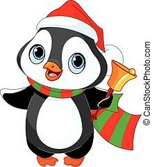 natale, pinguino