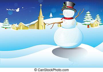 natale, pupazzo di neve