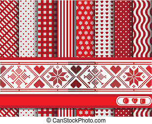 natale, scrapbooking, rosso