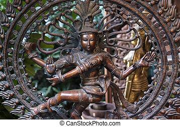 Nataraj - dancing Shiva - The Hindu Lord Shiva performing...