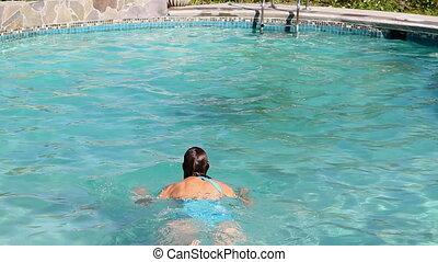 natation, exercice, brasse