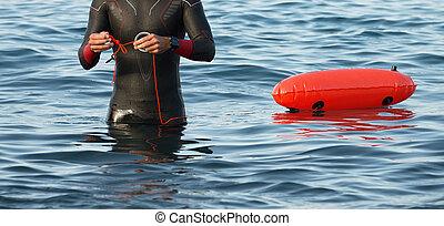 natation, interurbain, préparer, nageur