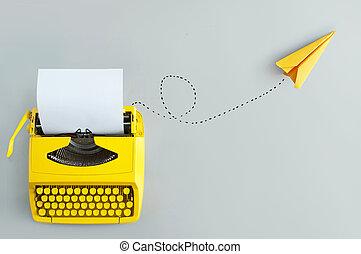 natchnienie, nowy, maszyna do pisania