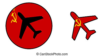 Airplane isolated on white - USSR