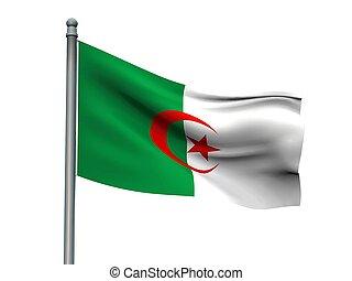 Nation flag on white background 3d rendering