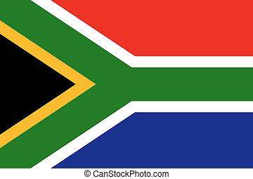 national, afrique, drapeau, sud