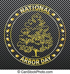 National arbor day - National tree planting day. Symbolic...