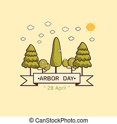 National Arbor Day Vector illustration.
