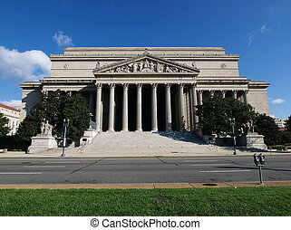 National Archives Washington DC - A sunny morning at the...