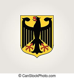 National arms of Germany, vector illustration, EPS 10