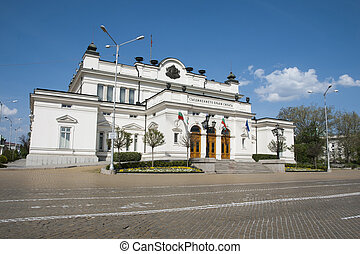 The building of national assembly of Bulgaria in Sofia. The former home of communist party