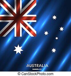 National Australia flag background