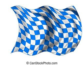 national, bavière, drapeau