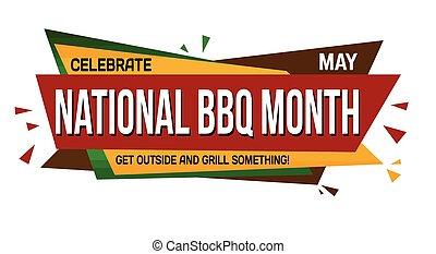 National BBQ month banner design