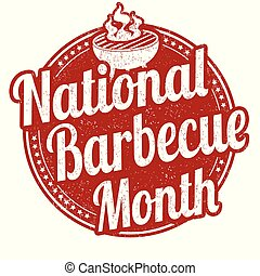 National BBQ month sign or stamp