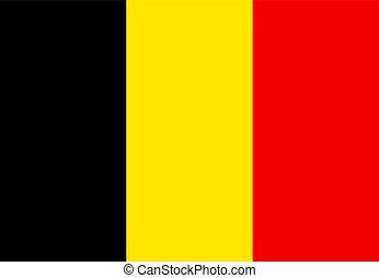 National Belgium Flag. Vector Illustration, eps 10