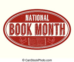 National book month grunge rubber stamp