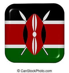 national button - button in colors of Kenya
