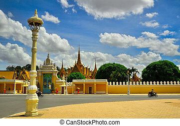 national, -, cambodge, phnom, musée, penh