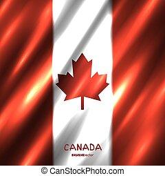 National Canada flag background