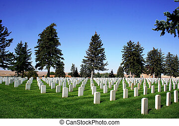 The National Cemetery at Little Bighorn Battlefield in Montana.