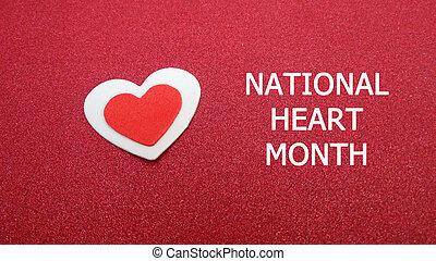 national, coeur, mois