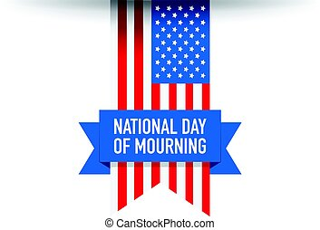 National day of mourning flag