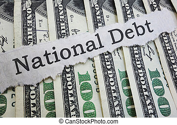 National Debt news headline on cash