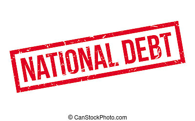 National Debt rubber stamp