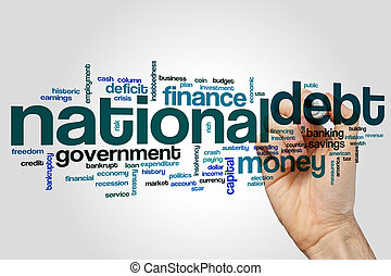 National debt word cloud concept