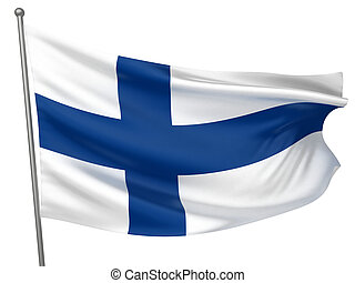 national, drapeau finlande