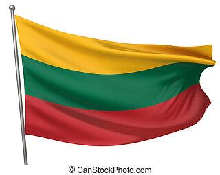 national, drapeau lithuanie