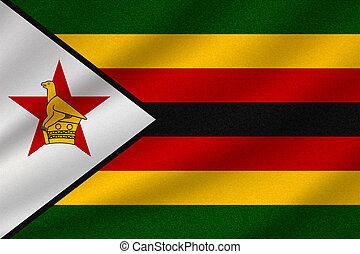 national, drapeau zimbabwe