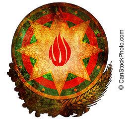 national emblem of azerbaijan