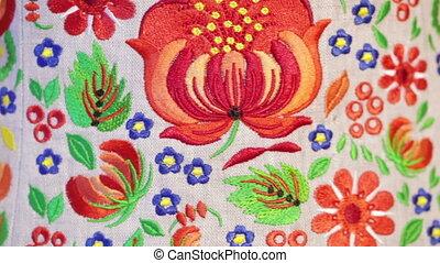 Petrikovskaya Ukrainian national painting as embroidery shir