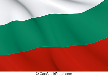 National Fabric Wave Close Up Flag of Bulgaria