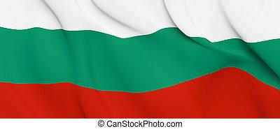 National Fabric Wave Closeup Flag of Bulgaria