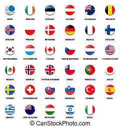 national flag ball of OECD members