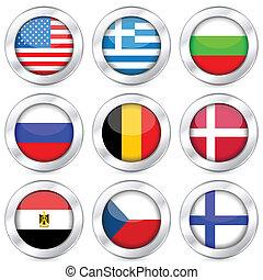 national flag button set