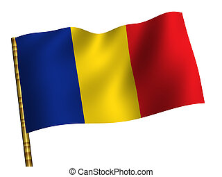 Chad - National Flag. Chad