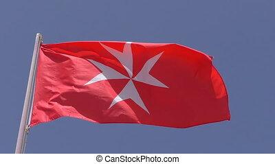National flag civil ensign of Malta