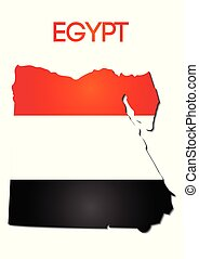 national flag color of Egypt in map gradient design