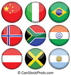 national flag icon set 2 - Circle national flag icon set....