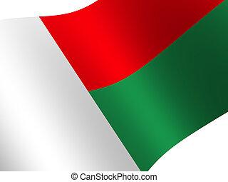 Madagascar - National Flag. Madagascar