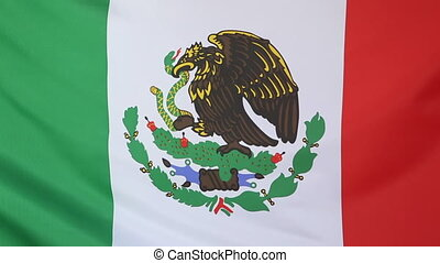 National flag Mexico, slow motion