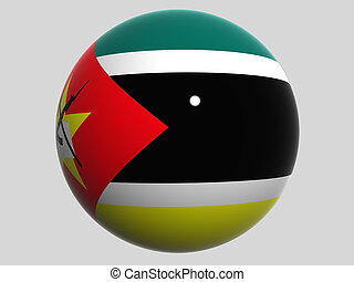 Mozambique - National Flag. Mozambique