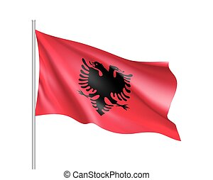 National flag of Albania state