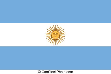 National flag of Argentina with Sun of May