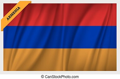 National flag of Armenia - waving edition