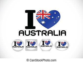 National flag of Australia themes i